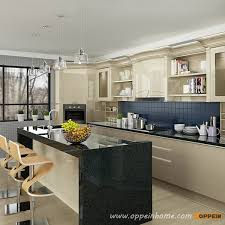 Lacquer Kitchen Cabinets by Op16 L12 Modern Light Yellow High Gloss Lacquer Kitchen Cabinet