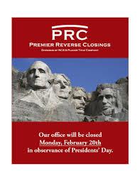 presidents weekend premier reverse closings linkedin