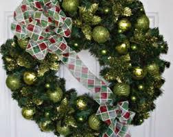 lime green wreath etsy