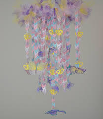 butterfly wonderland crib mobile purple pink yellow white blue