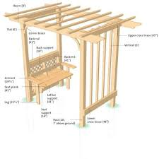 Free Wooden Bench Seat Plans by Arbor With Seat Plans Garden Arbor Bench Free Plans Corner Arbor