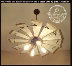 Farmhouse Ceiling Light Fixtures Windmill Farmhouse Chandelier Light The L Goods