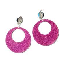70 s earrings 60 earrings 70s earrings 80s earrings 2 clip on plastic