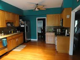 Hardwood Cabinets Kitchen by Teal Kitchen With Wood Cabinets Google Search New Home 2015