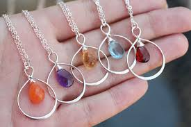 bridesmaid jewelry gifts 15 set of 7 infinity birthstone necklace personalized