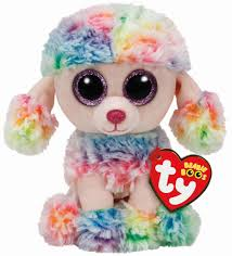 buy ty beanie boo u0027s multicolored poodle rainbow michaels