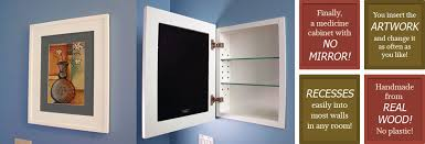 Wood Medicine Cabinet No Mirror Recessed Medicine Cabinets With Picture Frame Doors Mirrorless