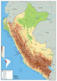 chile physical map peru physical map i maps