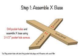 X Base Side Table Diy X Brace Side Table W Concrete Top Free U0026 Easy Plans