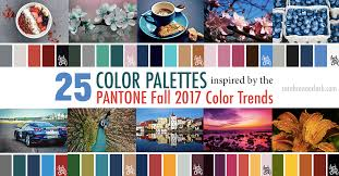 25 color palettes inspired pantone fall 2017 color trends