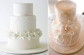 wedding cake lace stencilled lace wedding cakes cake magazine