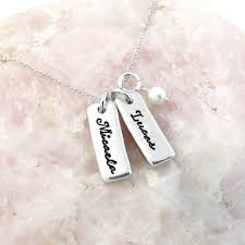 Mom Necklaces With Children S Names 100 Mom Necklaces With Children S Names Silver Necklaces