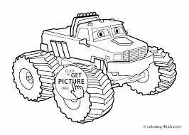 nice monster truck with eyes coloring page for kids