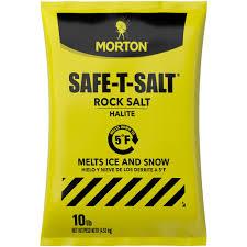 morton salt 50 lb rock salt bag 4664 the home depot