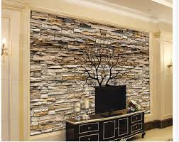 mur deco pierre idee deco salon avec mur en pierre carrelage travertin salle de bain