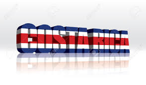 Costarican Flag 3d Costa Rica Word Text Flag Royalty Free Cliparts Vectors And