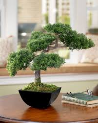 artificial cypress silk bonsai tree at petals