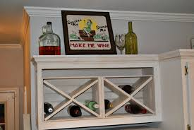 Kitchen Wine Cabinet Accessories Outstanding Mounted Wall Solid Wooden Wine Rack For