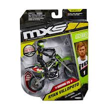 toy motocross bikes amazon com mxs motocross ryan villopoto die cast bike u0026 rider