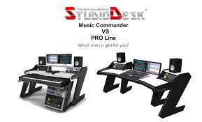 Home Recording Studio Desks by Studio Desk Music Commander Vs Pro Line Youtube