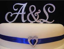 s cake topper diamante letter s cake topper sublime wedding shop
