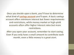 how to choose and open a personal savings account