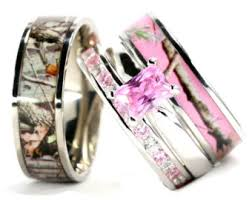 camo wedding band sets pink camo wedding ring sets wedding ideas