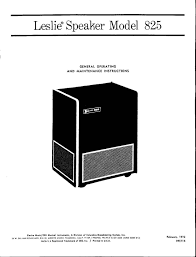 synthfool docs leslie leslie 825 user and service manual