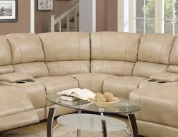 cream sectional sofa reclining sectional sofa in cream bonded leather w options