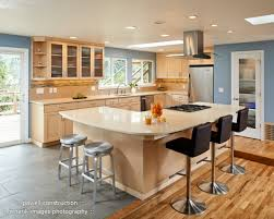 Natural Maple Cabinets With Caeserstone Desert Limestone Counters - Natural maple kitchen cabinets
