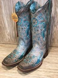 womens corral boots size 12 corral s turquoise catcher embroidered square toe