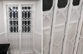 Patio Door Security Shutters Rsg1200 Collapsible Grilles Lps1175 Sr1 Security Grilles