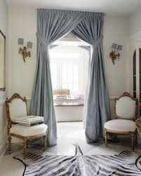Interior Design Curtains by Purple Draperies With Golden Cords And Embroidered Sheer Curtains