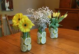 jar center pieces sliced lemon in jar centerpieces budget brides guide a