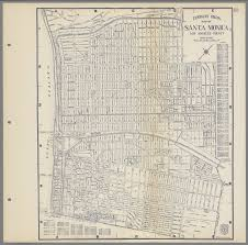 Street Map Of Los Angeles by Thomas Bros Map Of Santa Monica Los Angeles County California