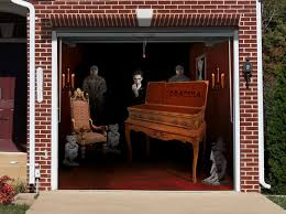 Garage Door Covers Style Your Garage These Spooky Garage Door Stickers Are What Halloween Is All About
