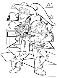 disney toy story woody buzz coloring images color