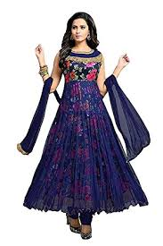 buy new collection pure cotton anarkali dress material for