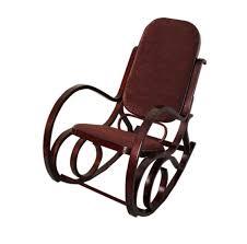 chaise a chaises à bascule chaise à bascule en bois et en tissu marron foncé