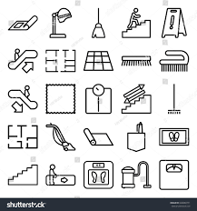 floor icons set set 25 floor stock vector 648880771 shutterstock