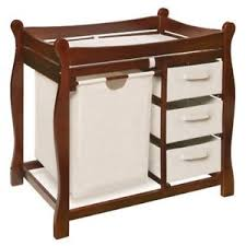 Sleigh Changing Table Badger Basket Sleigh Changing Table With Her Drawers Ebay