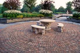 Brick And Paver Patio Designs Multifunctional Brick Paver Patio Design On Rustic Red Color