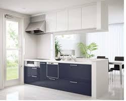 cuisine blanche et bleue cuisines cuisine bleu fonce blanc cuisine bleue décoration