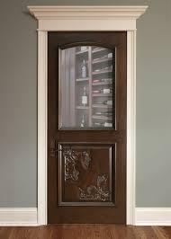 Custom Basement Doors - interior door custom single solid wood with walnut finish