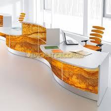 2 Person Reception Desk Real Stone