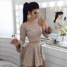 chic two piece homecoming dresses fashion custom size modern