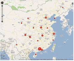 Hangzhou China Map by Crowdsourcing China Labor Strikes The Atlantic