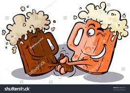 funny beer cartoon funny beer handshake stock vector 68046274 shutterstock