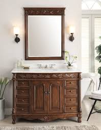 Bathroom Vanities And Mirrors Sets 48 Benton Collection White Marble Top Florence Bathroom Vanity