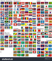 Flags Countries National Flags All Countries World Separated Stock Vector 9166825